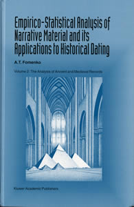 Empirico-Statistical Analysis of Narrative Material and its Applications to Historical  Dating